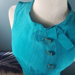 Trina Turk Blue Dress Size 0
